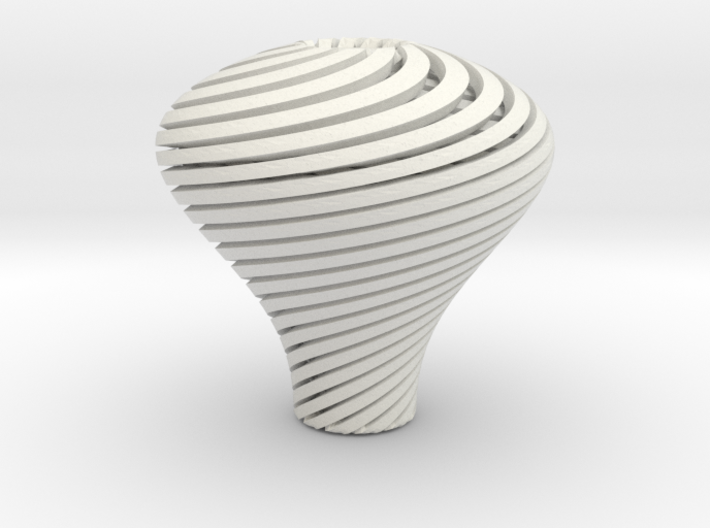 Pear Twisted Knob 3 1 3d printed