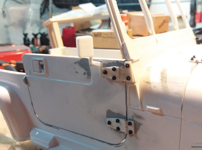 Jeep YJ rear view mirrors 3d printed