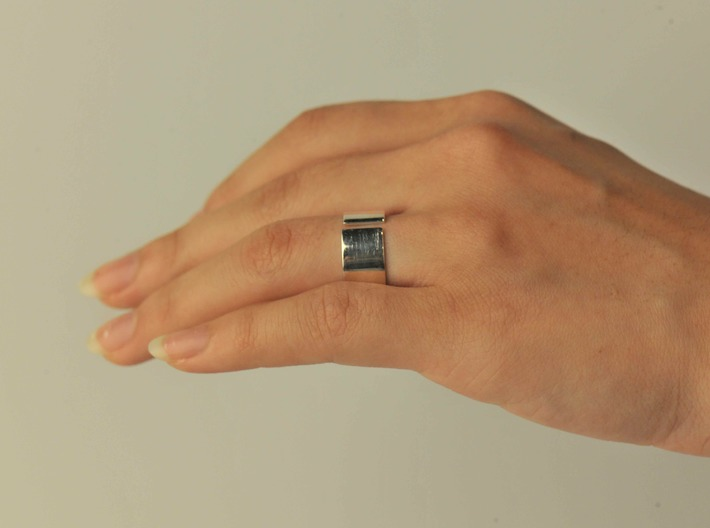 12 Ring3bodyinner175by8x5nopunchednewexport 3d printed Engagement Ring