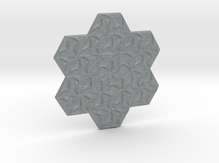 Hexagonal Spirals - Small Miniature 3d printed