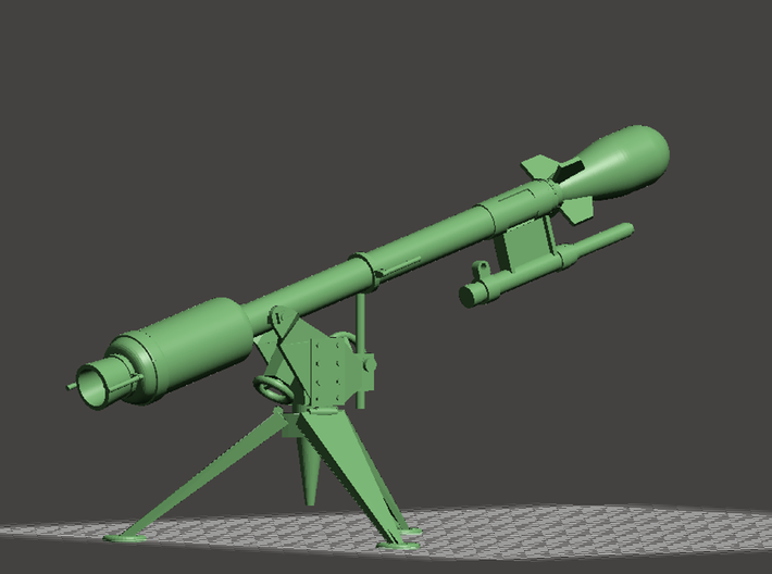 """Davy Crockett"" Atomic Weapon (+ XM-29 Launcher)! 3d printed"