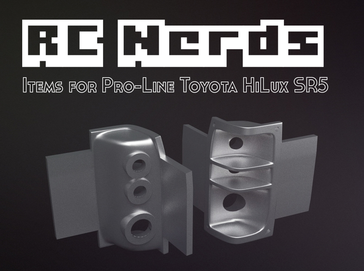 RCN015 Rear Light Buckets for Pro-Line Toyota SR5 3d printed