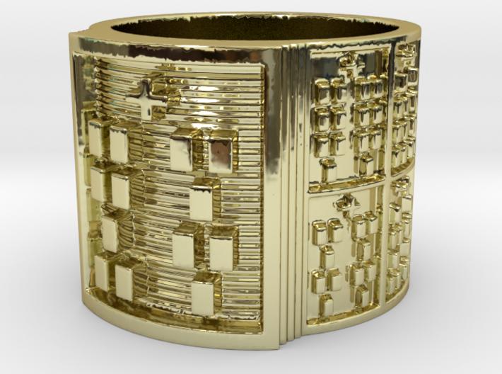 OFUNBATRUPON Ring Size 11-13 3d printed