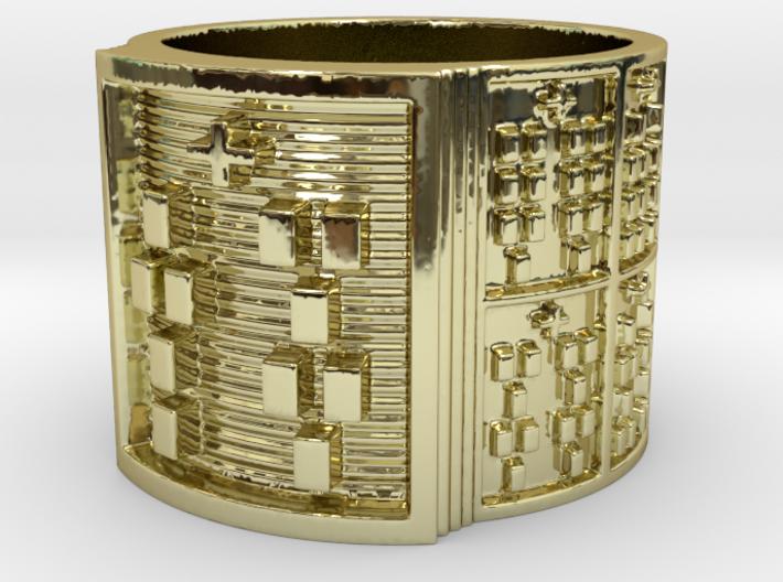 OFUNTEMPOLA Ring Size 13.5 3d printed