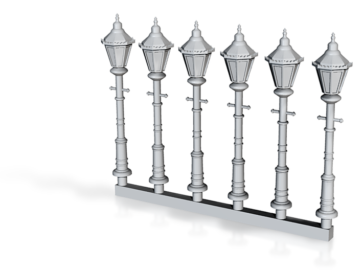 Victorian Street Light 15mm Group 3d printed