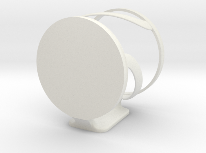 Damage free, wall mountable cup holder 3d printed