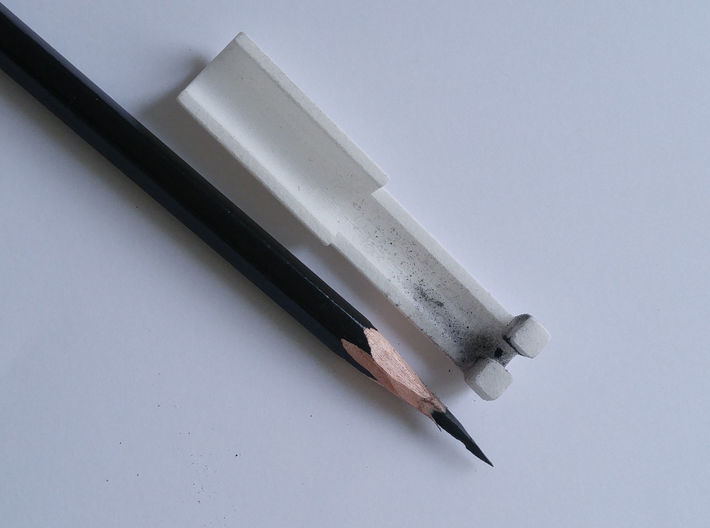 Pencil Holder (for sharpening extra long points) 3d printed