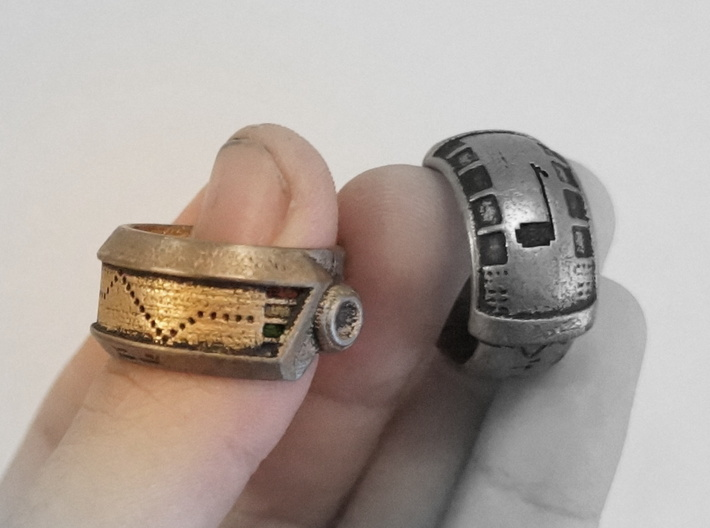 Robot Ring (Silver) 3d printed Read Below
