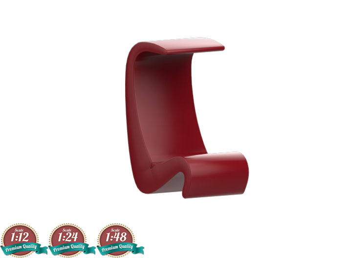 Miniature Amoeba Highback Chair - Verner Panton 3d printed Miniature Amoeba Highback Chair - Verner Panton