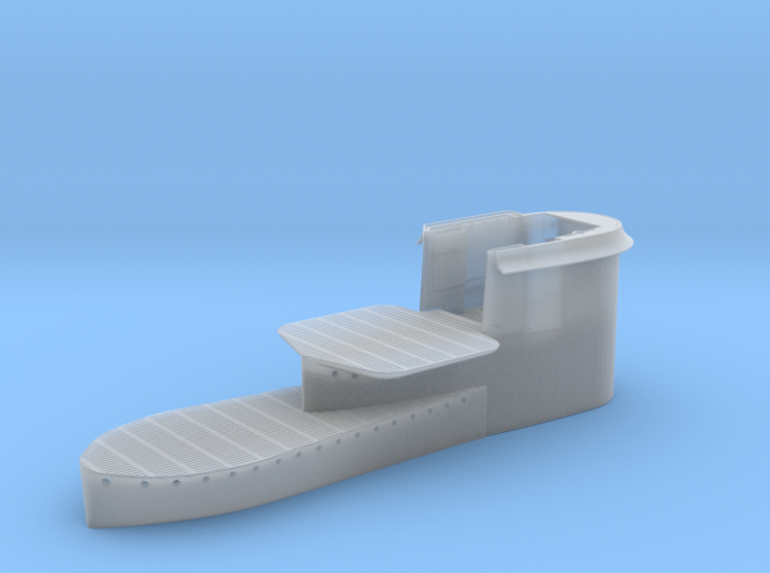 1/72 Uboot VII C41 Conning Tower 3d printed