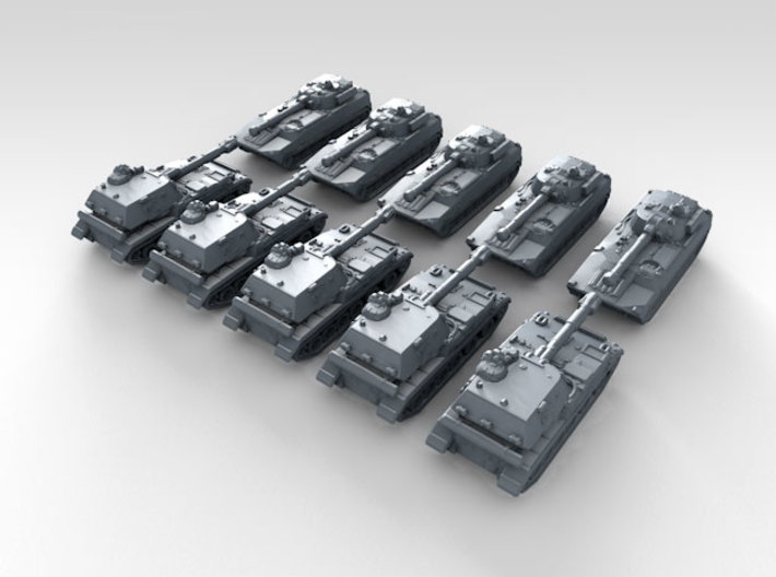 1/700 Scale Russian Modern Tank Set 2 3d printed 3d render showing product detail