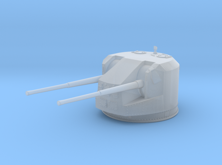 1/600 RN WW2 Dual 5.25 Inch Guns 1941 (5) 3d printed 1/600 RN WW2 Dual 5.25 Inch Guns 1941 (5)