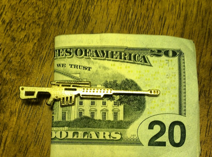 BARRETT 50BMG MONEY/TIE CLIP 3d printed