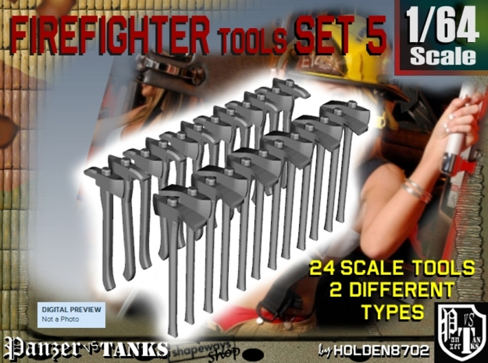 1/64 Firefighter Tools Set5 3d printed