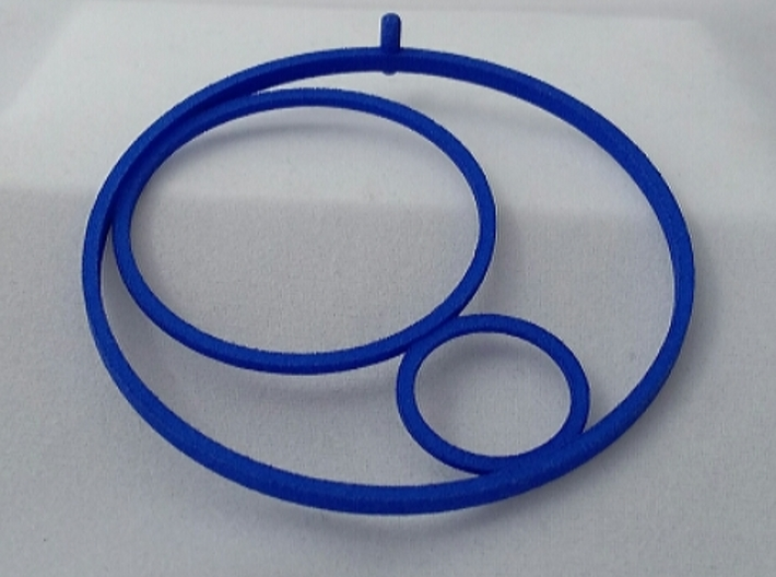PENDANT 3CIRCLES STEEL AND PLASTIC 3d printed