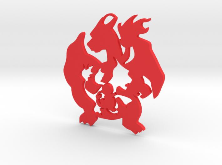 Pokemon Charmander-Charmeleon-Charizard Evolution 3d printed