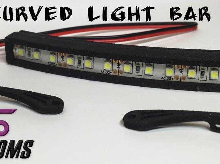 """4"""" Curved Light Bar By VS Customs 3d printed"""