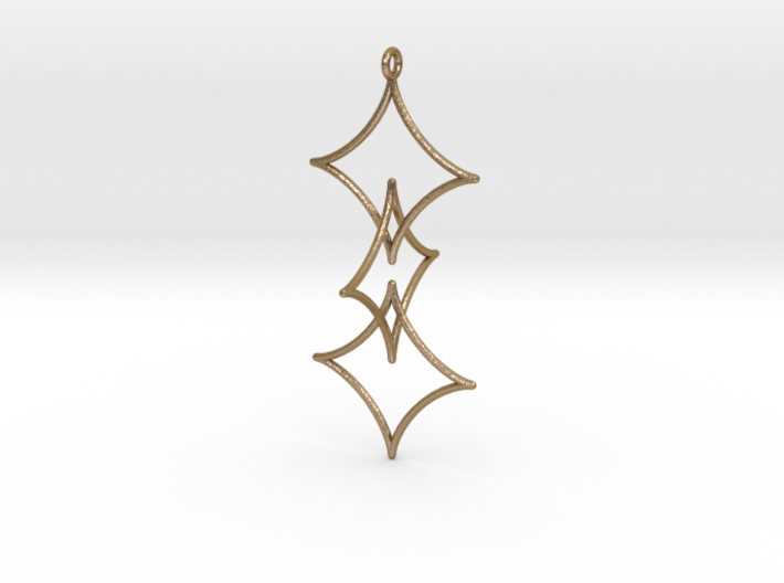 Interlocked Astroid Pendant 3d printed