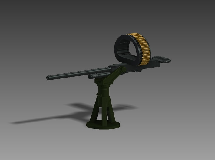 Browning M4 on PT boat mount 1/144 3d printed
