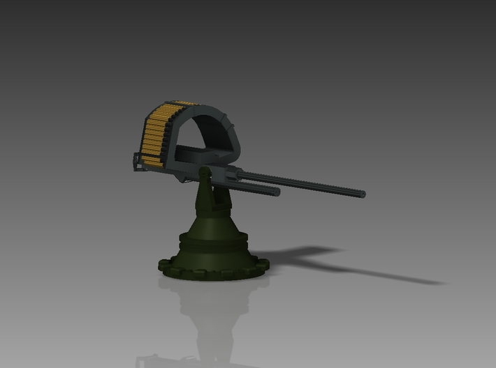 Browning M9 on PT boat mount 1/144 3d printed