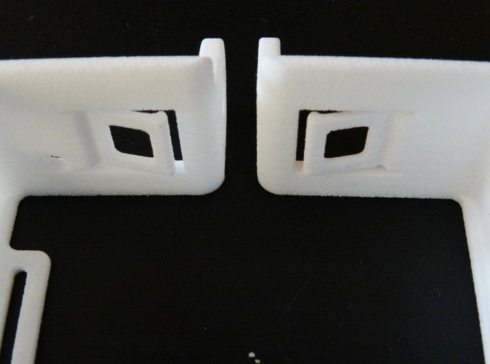 GoPro Hero 3 Frame Mount Strong Secure fit  Go Pro 3d printed pressure tabs located in the side walls and base to ensure secure fitment in all directions