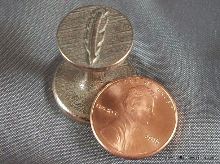 Quill Pen Wax Seal 3d printed Quill Pen Wax Seal with penny for scale