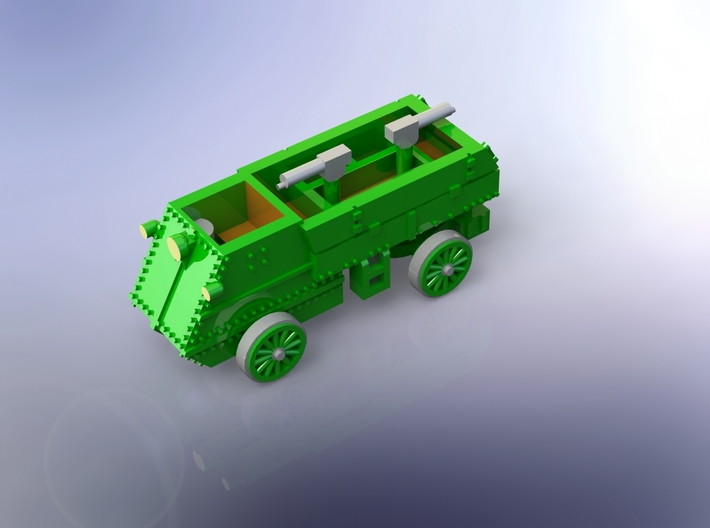 Canadian Autocar Armoured Car WW I 1/220 Z-Scale 3d printed