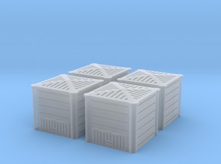 TJ-H01128x4 - Composteurs en plastique 3d printed