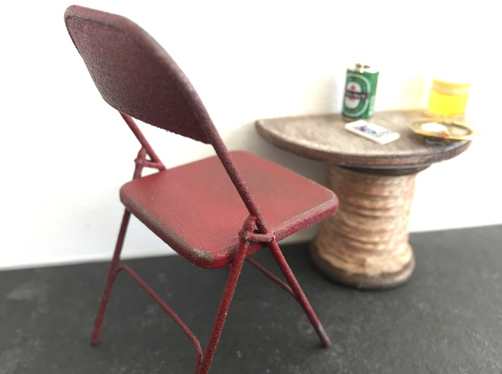 1:12 Chair Metal 'Folding' 3d printed