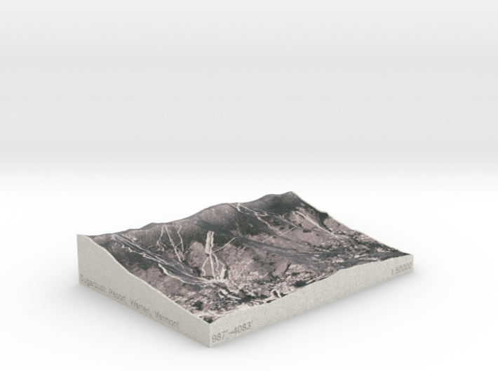 Sugarbush Resort, Vermont, USA, 1:50000 3d printed