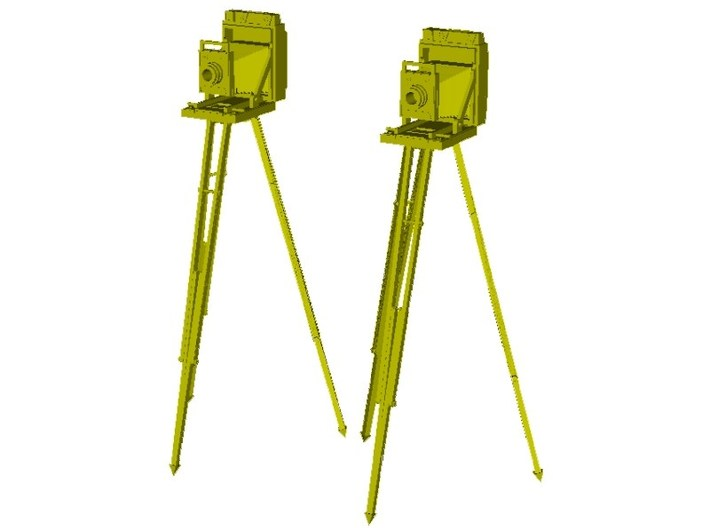 1/20 scale vintage cameras with tripods x 2 3d printed