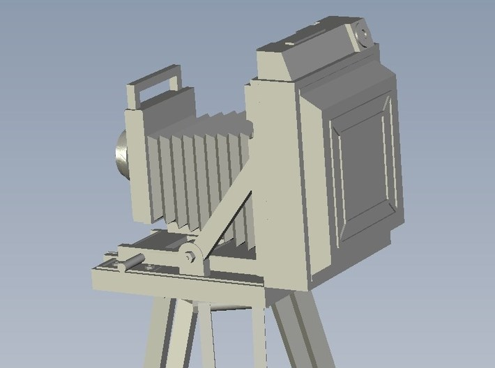 1/18 scale vintage cameras with tripods x 3 3d printed