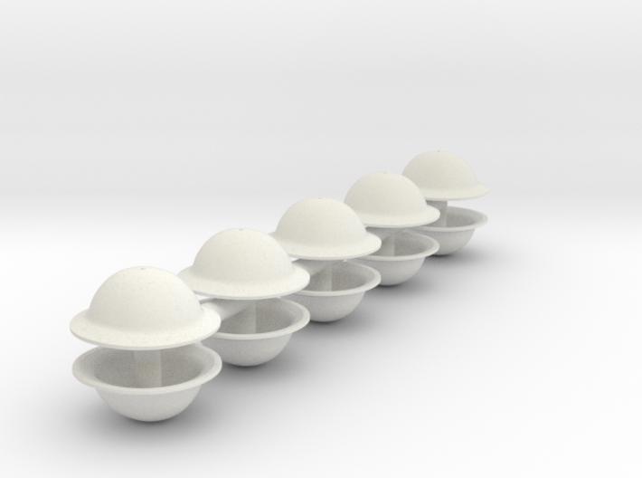 1-18 Brodie Helmet Set2 3d printed