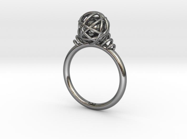 String Ball Ring 3d printed