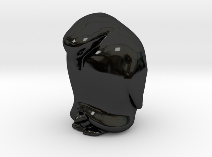 Penguin And Child Solid 3d printed