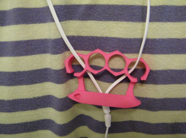 Unbreakable Heart  - Phone Stand and Headphone Wra 3d printed No pockets? Be bold, wear it around your neck.