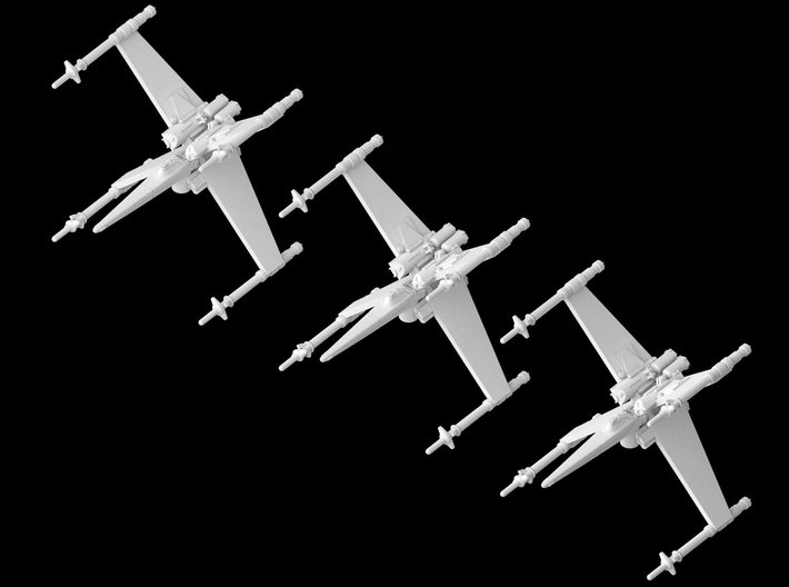 3x Cantwell's Prototype X-Wing (1/270) 3d printed