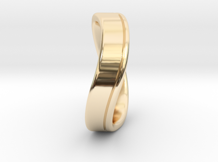 Wedding Ring INFINITY. Comfort fit. Size 13 3d printed