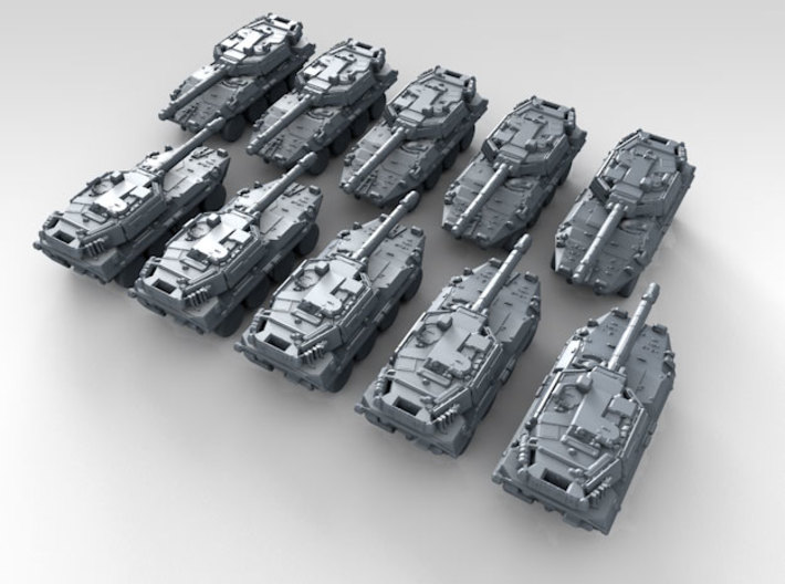 1/700 Italian B1 Centauro 105 Tank Destroyer x10 3d printed 3d render showing product detail