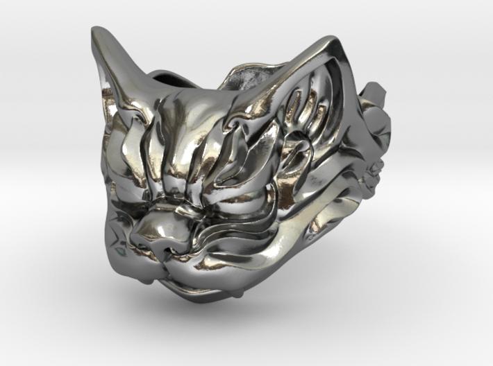 Fu Cat (Komaneko) Ring 3d printed