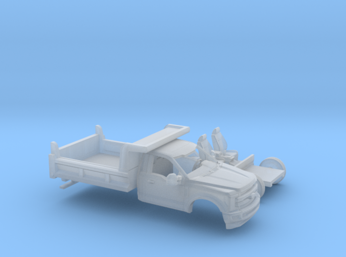 1/87 2017 Ford F-Series Reg.Cab Dump Bed Kit 3d printed