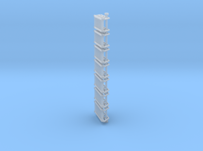 N Scale Stairs 8 (7 pc) 3d printed