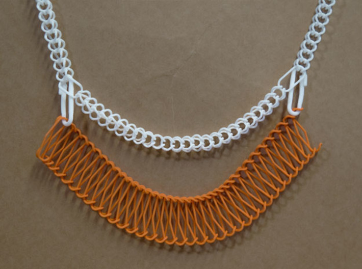 Chain Segment 1 3d printed Use as base for necklaces