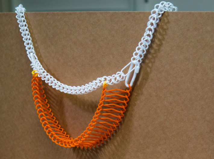 Ladder Chain 1 3d printed Combined with Chain Segment 1, with various links and locks