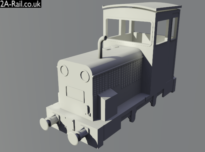 "OO9 Talyllyn Railway ""Merseysider"" Body Kit 3d printed Test Render"