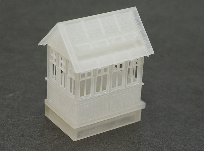 CPR John Street Gatehouse - Restored - HO(1/87) Sc 3d printed FUD print test assembled rear view.