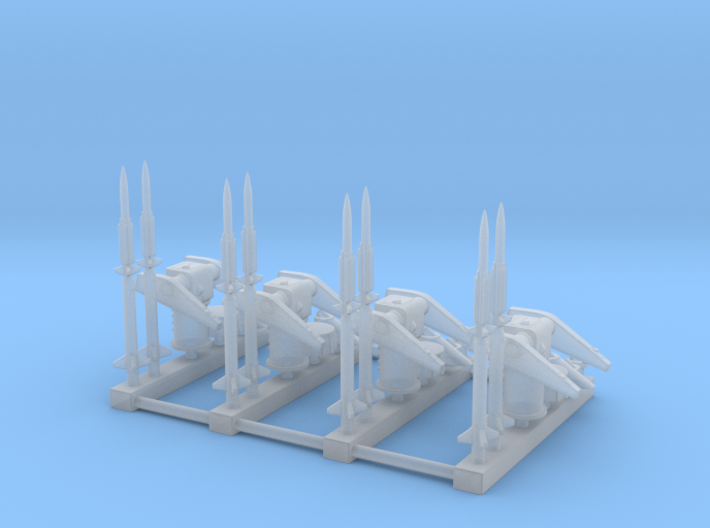 1/500 MK10 Terrier Missile Launcher KIT x4 3d printed
