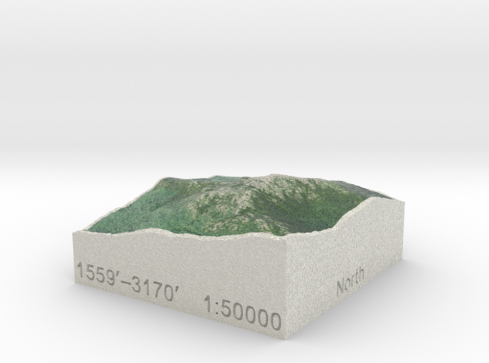 Mt. Monadnock, New Hampshire, 1:50000 Explorer 3d printed