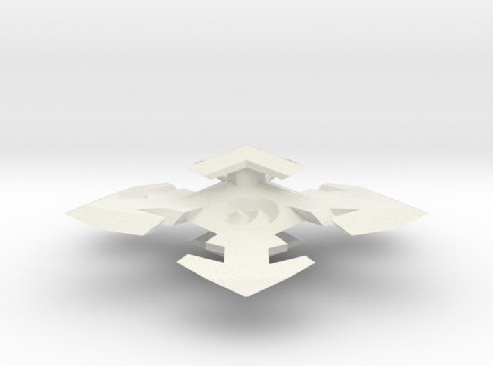 Snowflake D6 3d printed