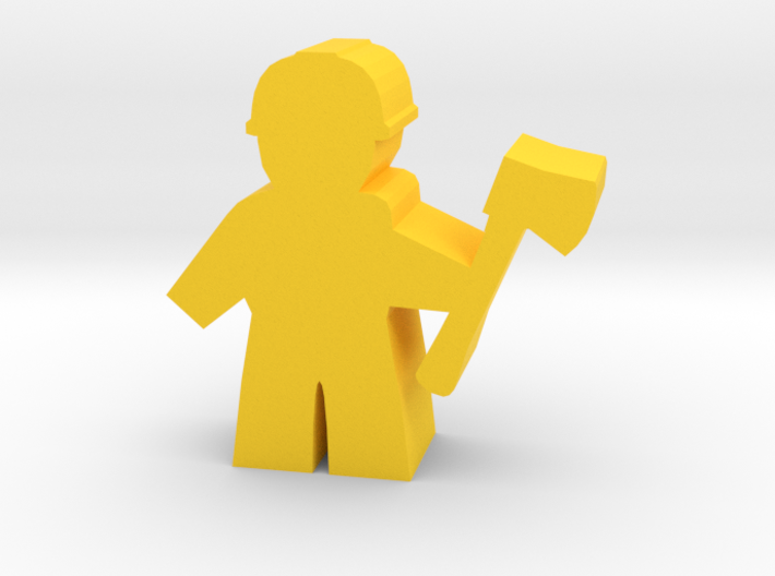 Game Piece, City Worker with axe 3d printed